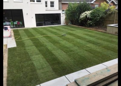 New laid lawn in Wimbledon